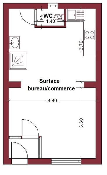 Agr able et lumineuse surface de bureau commerce ou for Surface de bureau